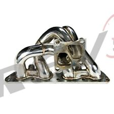 REV9 01-07 EVO 7 8 9 4G63 CT9A EQUAL LENGTH TURBO EXHAUST MANIFOLD STAINLESS