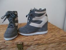 JEFFERY CAMBELL WEDGE TRAINER BOOTS(IBIZA) NUDE 6 39 WORN ONCE