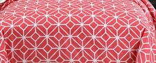 Trina Turk Trellis Queen Duvet Cover Coral White Etched Floral Retro Chic Modern