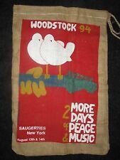 Woodstock '94 Large Burlap Sack/Bag **RARE**