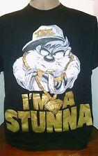 VINTAGE TASMANIAN DEVIL TAZ SHIRT I'm a Stunna 90's hip hop Looney Tunes Freeze