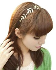European Fashion Romantic Gold Olive Leaf Headband-Choker (SKU# FSJH92)