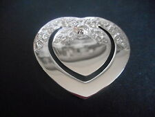 Silver Bookmark, Sterling, Loveheart, Scottish, Hallmarked Edinburgh