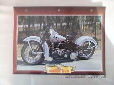 CARTE FICHE MOTO HARLEY DAVIDSON KNUCKLEHEAD E 61 / F 74 1946
