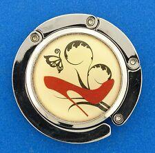 """Butterfly Red Heels Silver tone Metal Purse Hanger 2"""""""