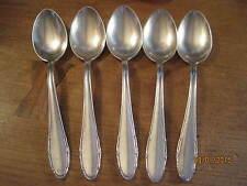Vintage EKA Swedish Silver plated 5 Teaspoons 90-21