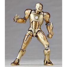 Revoltech No.052 IronMan Mark. 21 Action Figure Marvel Kaiyodo tony starks gold