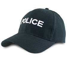 Mens Low Profile British Police Embroidered Baseball Cap Hat Black Fancy Dress