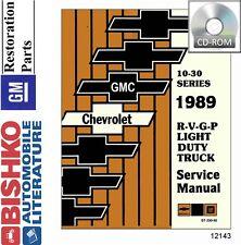 1989 Chevrolet Truck Van P Chassis Shop Service Repauir Manual CD Guide OEM