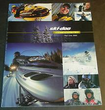 2002 SKI-DOO SNOWMOBILE FULL LINE SALES BROCHURE 20 PAGES NEW  (354)