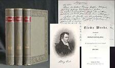 TIECK Werke 1892 3 Bände Meyers Klassiker Ausgaben GUT