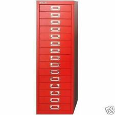BISLEY 15 MULTI DRAWER FILING CABINET - RED NEW FREE DELIVERY *SPECIAL OFFER*