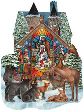 Forest Nativity 1000 Piece Shaped Jigsaw Puzzle by SunsOut