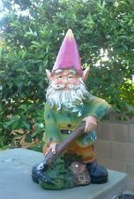 "CONCRETE PLASTER MOLD LATEX ONLY 10"" tall gnome."