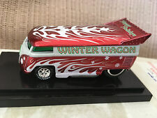 (F) Hot Wheels Liberty WINTER WAGON VW Drag Bus ONLY 1300 Made '09 Christmas