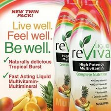 reViva Liquid Multivitamin Twin Pack - 2 x 32 oz bottles = 64 oz Tropical burst
