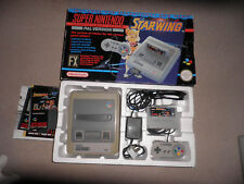 super nintendo starwing console 100% complete - fully tested good condition