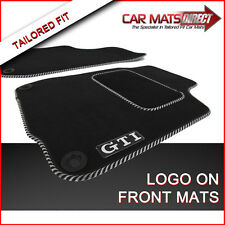 VW Golf MK4 GTI 97-04 Tailored Car Floor Mats Silver Trim + Logos (Round Clips)