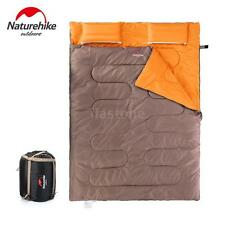 """86"""" x 60"""" 2 Person W /2 Pillows Double Sleeping Bag 23F/-5℃ Camping Hiking Y6D4"""