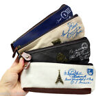 Vintage Canvas Paris Pen Pencil Case Coin Purse Pouch Zipper Bag Cosmetic Makeup
