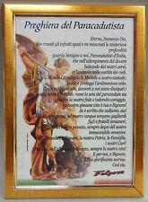 """Quadro da Parete """"SAN MICHELE ARCANGELO - PREGHIERA DEL PARACADUTISTA"""" (24x34)"""