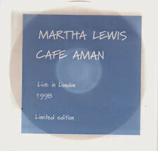 Martha Lewis Cafe Aman - Live in London from 1998 Ltd Ed UK CD
