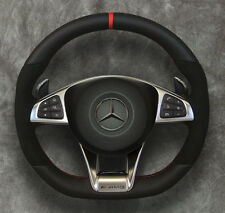 2015 ◆ Mercedes-Benz ◆ AMG Steering wheel ◆ Airbag ◆ Alcantara ◆ Red stitching