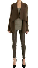 NWT $995 Vince Stretch LEATHER Ankle Zip Leggings Pants Jeans Brown XXS