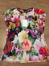 Ted Baker Floral Swirl Jersey Top Tee T-shirt BNWT ❤️ BRIANA SIZE 2 Uk 10
