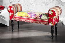 Multicolore Banc Conception De Patchwork 100cm Banque Princesse Designermoebel