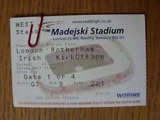 Billete De 26/01/2003: Unión de Rugby-en la lectura-London Irish V Rotherham [Powergen