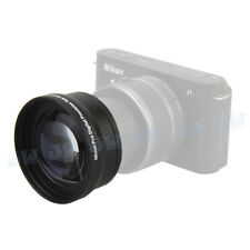 2 in 1 58MM 2.0X Telephoto Lens Kit for NIKON 1 J1+10-30MM LENS digital camera