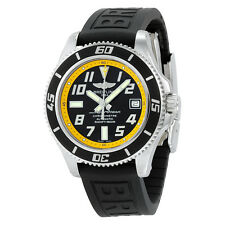 Breitling Superocean 42 Automatic Black Dial Rubber Strap Mens Watch
