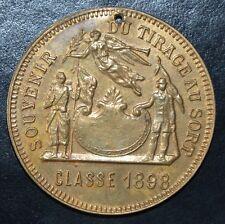 Médaille Jeton Souvenir Tirage au Sort Classe 1898 République Française SUPERBE