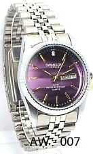 Swanson Men  Silver-tone, Violet-Dial, 1 Saphire-Crystal, Dress Watch
