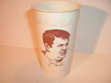 1972 Burger King Ice Milk Cup Jim Houston Cleveland Browns