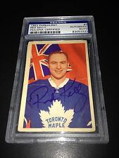 Red Kelly Signed 1963-64 Parkhurst Maple Leafs Card PSA Slabbed #83053322