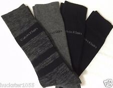 Calvin Klein 4-Pair Combed Cotton Casual/Dress Socks Gray /  Black   (3832)