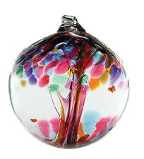 """Friendship Tree of Enchantment 3"""" Hanging Witch Ball Ornament Kitras Art Glass"""
