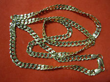 "$  Gorgeous Real 14K Yellow GOLD CUBAN LINK CHAIN NECKLACE 23.5"" SHINY HEAVY men"