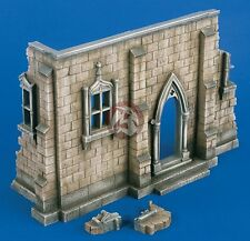 Verlinden 1/35 Church Corner Section with Entrance [Plaster Diorama Model] 2122