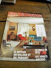 revues art et décoration n° 252 billard et parquet table en fête jouets anciens