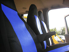 BLUE 2+1 FABRIC SEAT COVERS TAILORED FOR FORD TRANSIT VAN 2001-2013 mk6 mk7