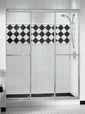 "MAAX 59"" TRIPLE PLUS 1/4"" GLASS SLIDDING SHOWER DOOR"