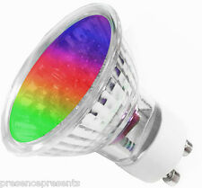 6 GU10 LED RGB RED BLUE GREEN MULTI COLOUR CHANGE CHANGER LIGHT BULBS MOOD LAMPS