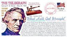 COVERSCAPE computer designed 170th anniversary Samuel F.B. Morse Telegraph cover