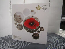 2015 REMEMBRANCE COLLECTOR CARD IN FLANDERS FIELDS COINS CARD HOLDER FOLDER.
