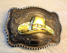 Cow Boy Hat Belt Buckle-Golden-CowBoy Accessories-Western Ornaments-Large
