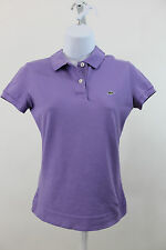 LACOSTE PURPLE ALLIGATOR SHORT SLEEVE POLO SHIRT TOP SZ 36 US 4
