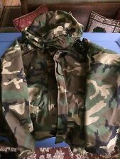 ECWCS Gore-Tex Cold Weather Woodland Camo Parka Jacket Size Medium Long